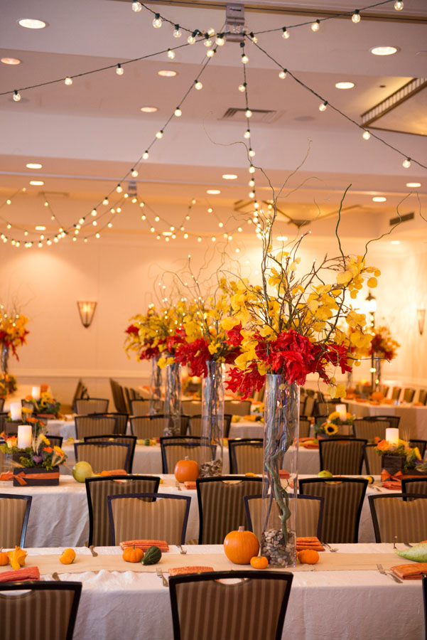 Bright autumn themed bat mitzvah occasions