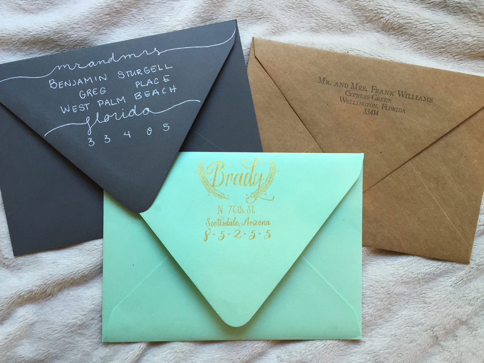 etiquette rules  addressing envelopes