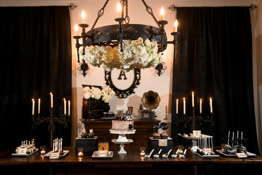 Darkly Romantic Halloween Engagement Party
