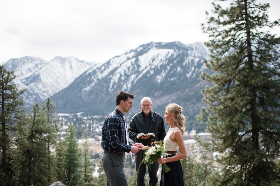 Breathtaking Elopement In Washington Mountains