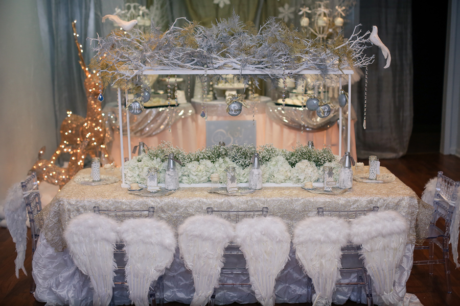 White And Silver Winter Wonderland Party Inspiration