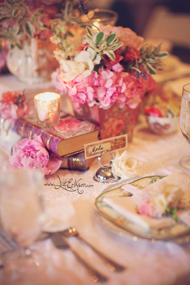 Consider a theme when incorporating vintage pieces at your event