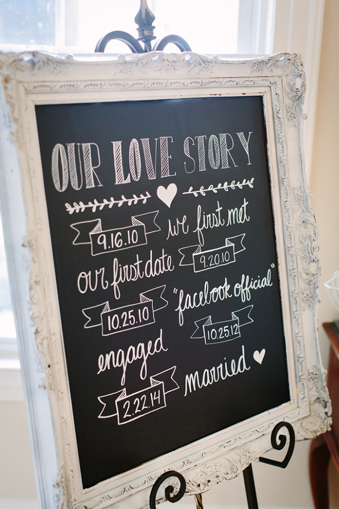 Our Love Story welcome sign