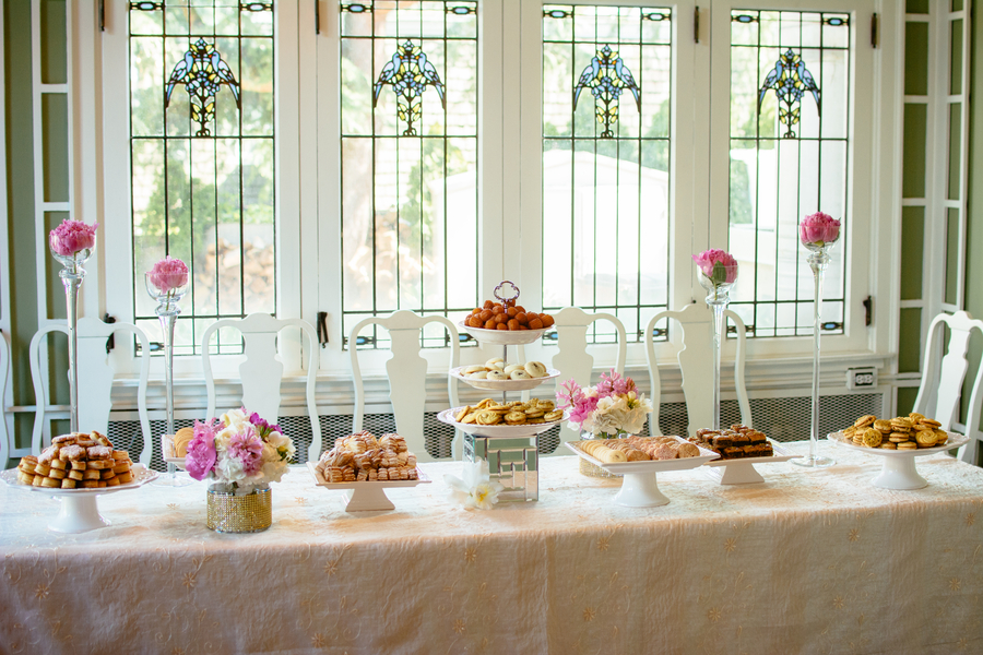 Wedding dessert table at Hycroft Mansion | The Celebration Society