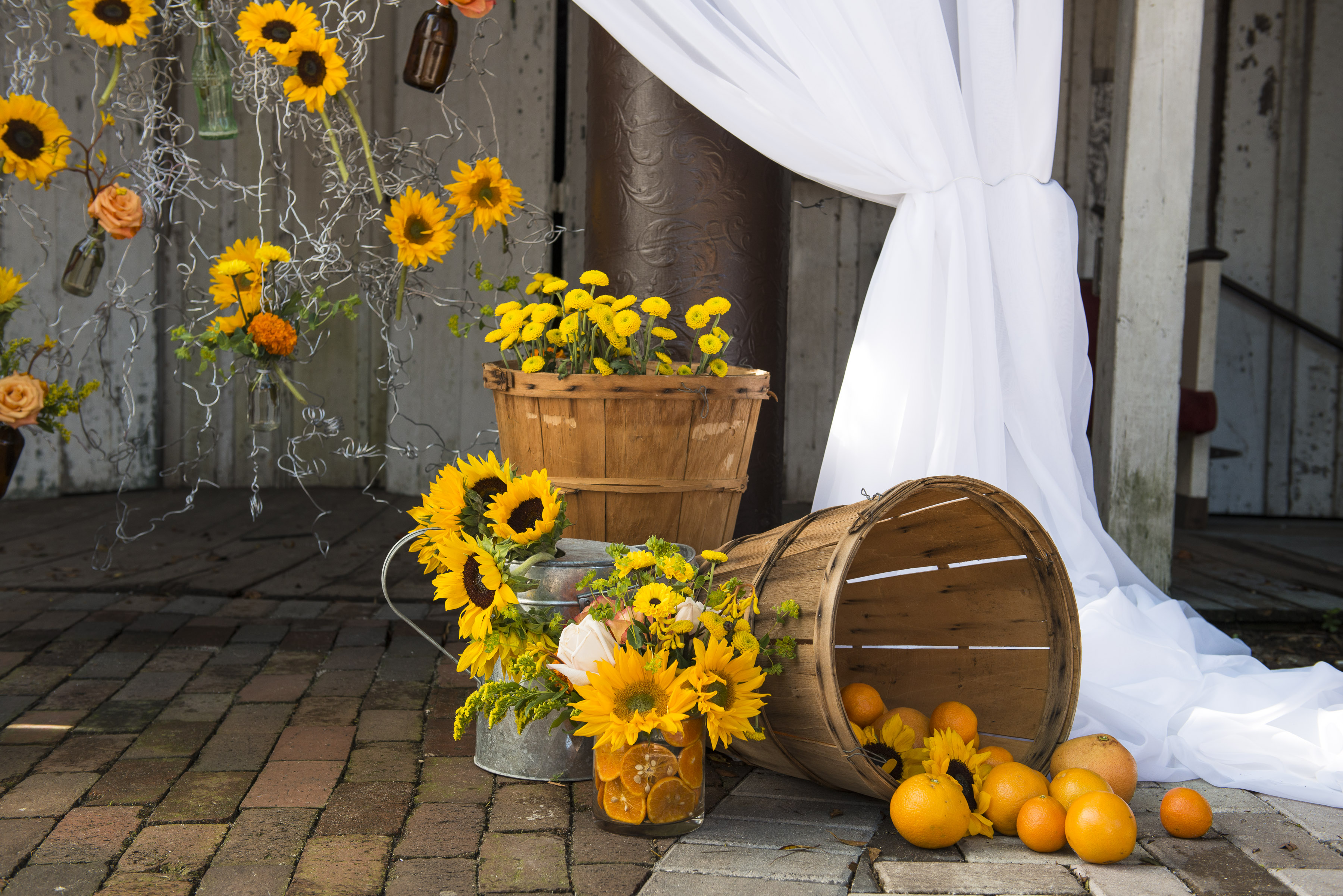 Casual Wedding Inspiration With Sunflowers