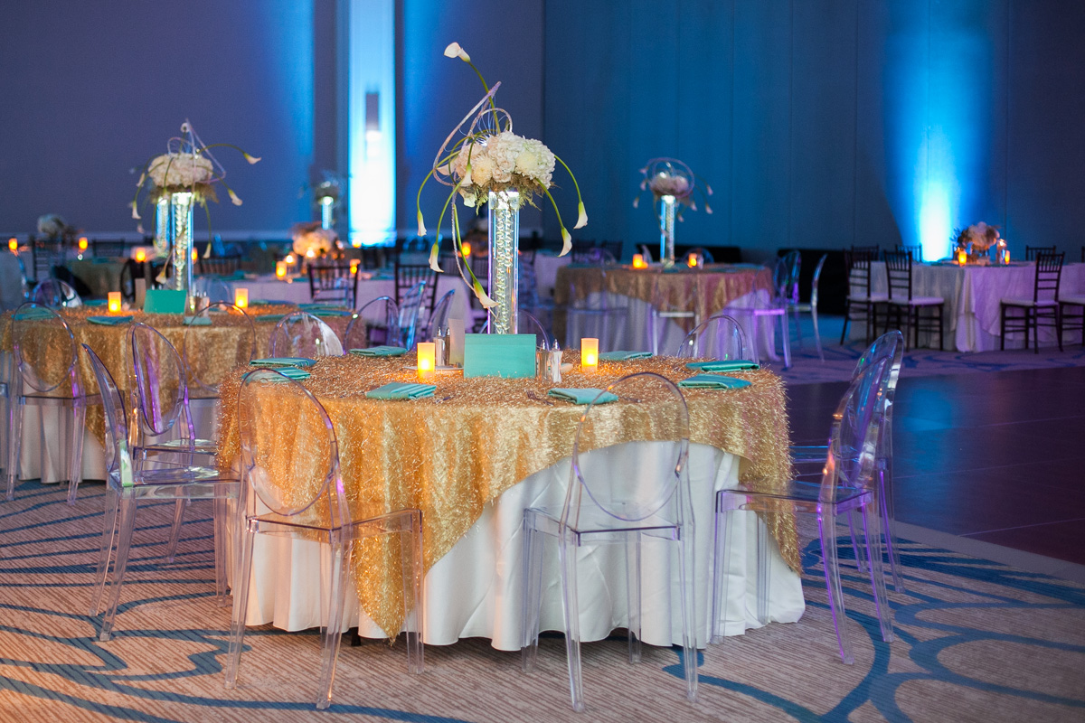 Aqua And Gold Party Inspiration