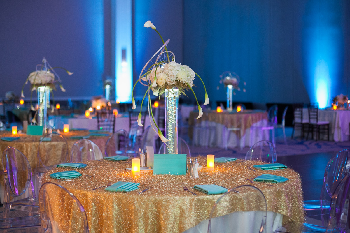 Aqua and Gold Book Themed Party Inspiration