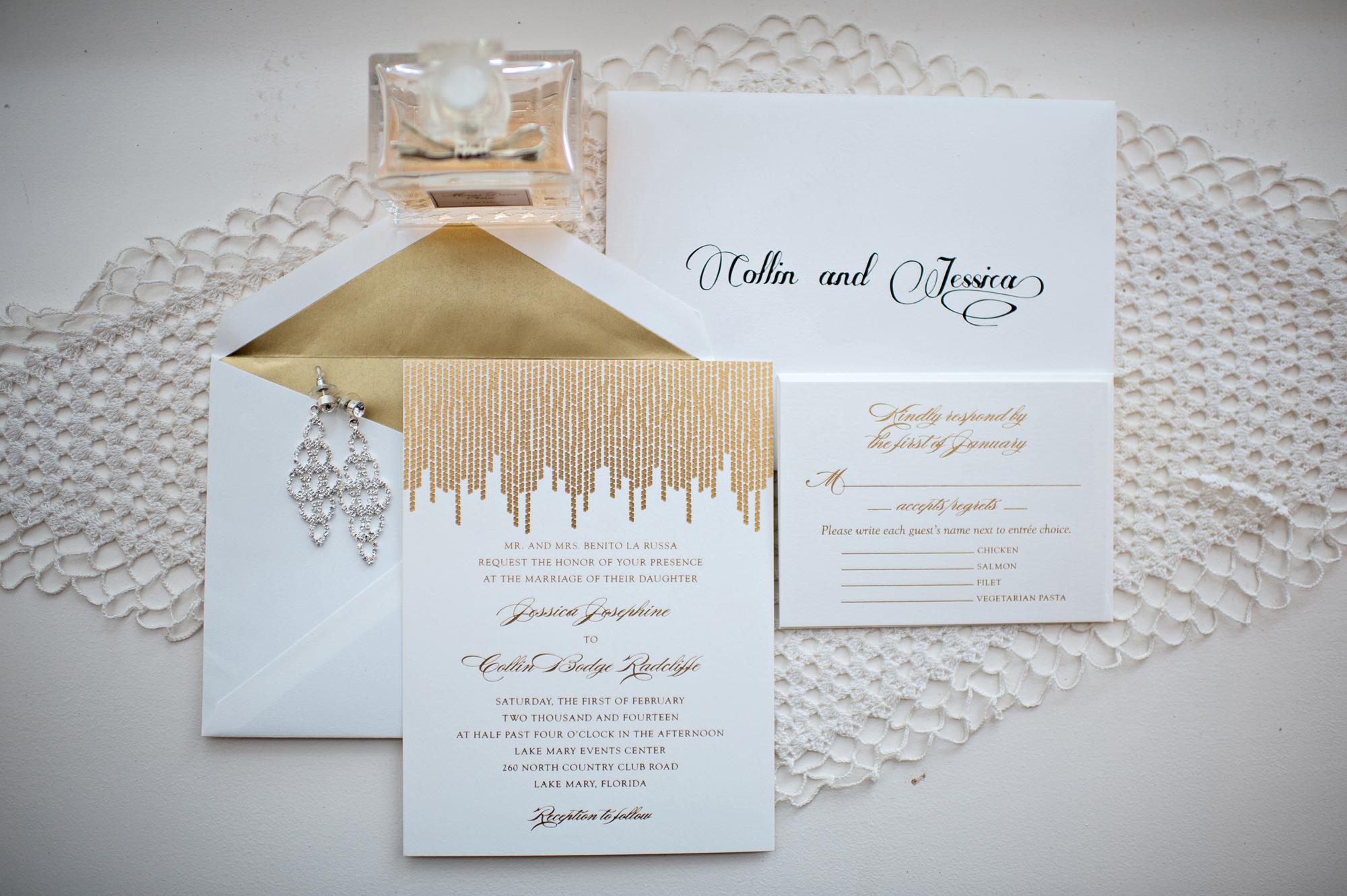 Glam invitation suite