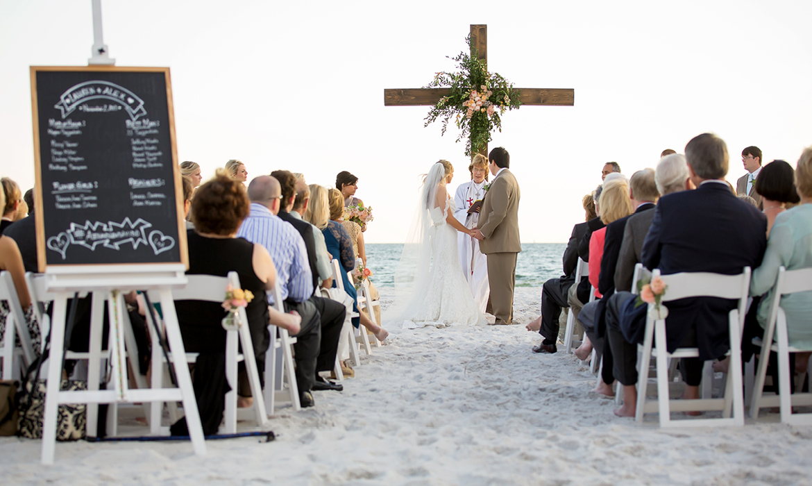 Picturesque Outdoor Wedding on Carillon Beach