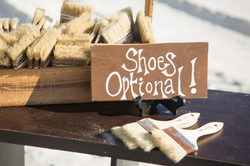Shoes optional - beach wedding