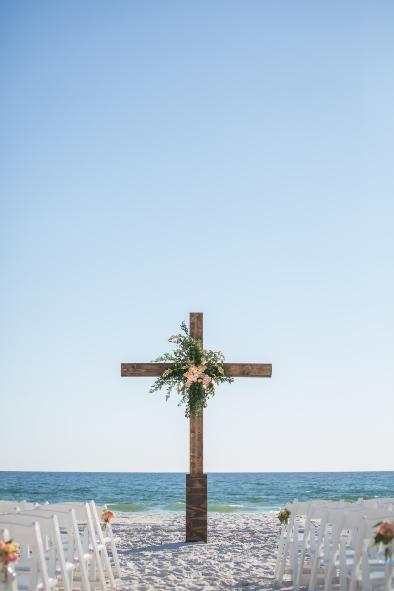 Picturesque Outdoor Wedding On Carillon Beach The