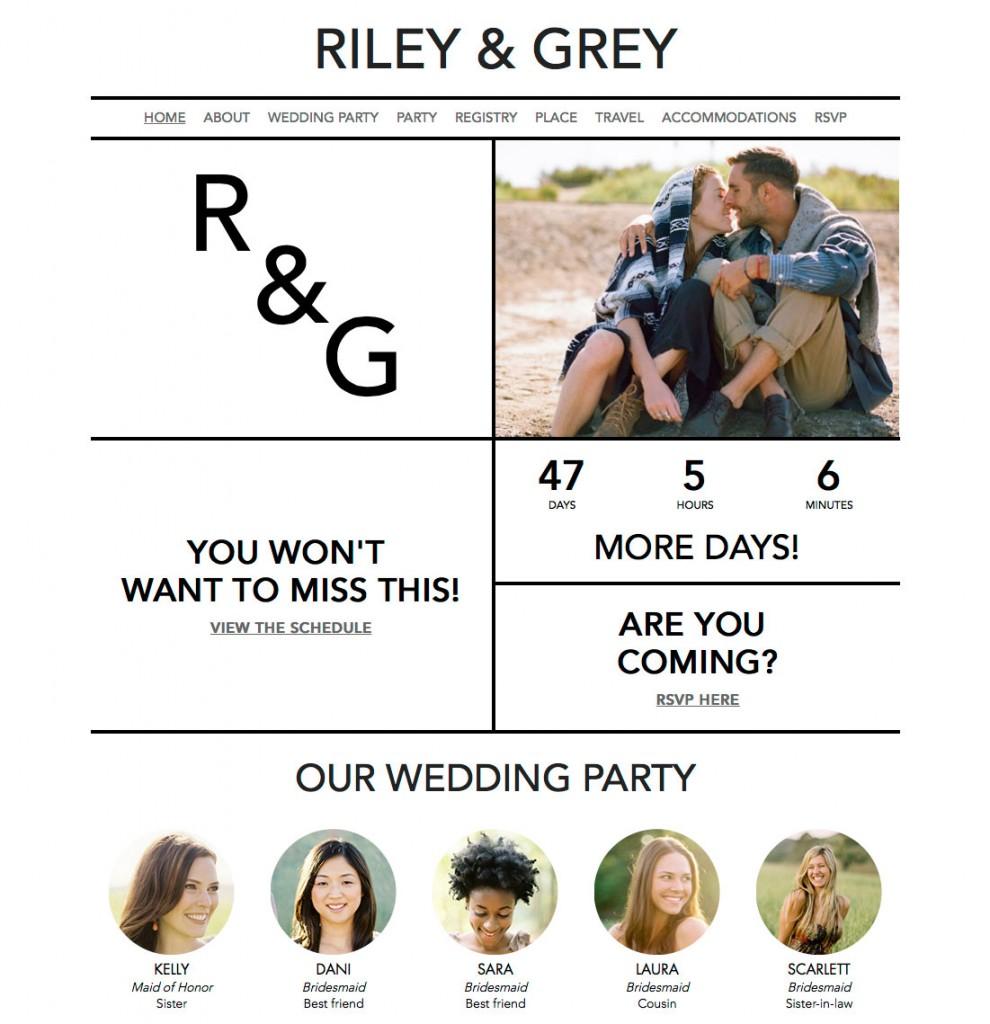 Riley Grey Wedding Websites