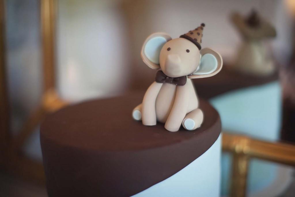 Elephant Baby Shower Cake For Boy