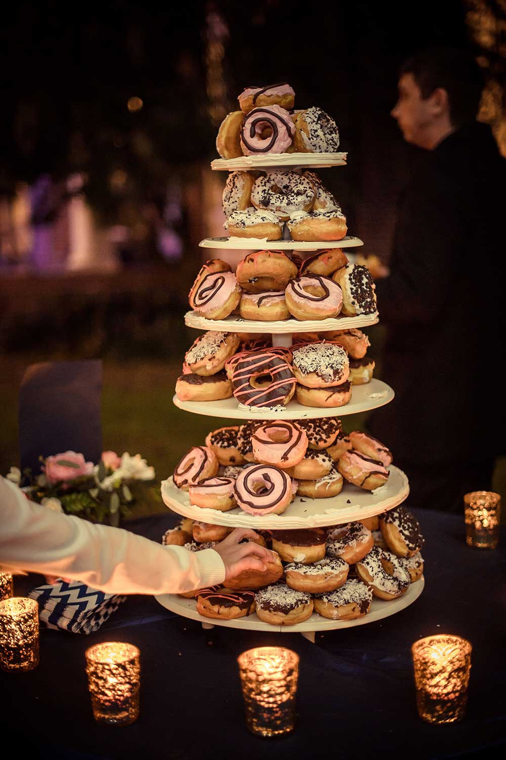 Donut Tower Wedding Cake The Celebration Society