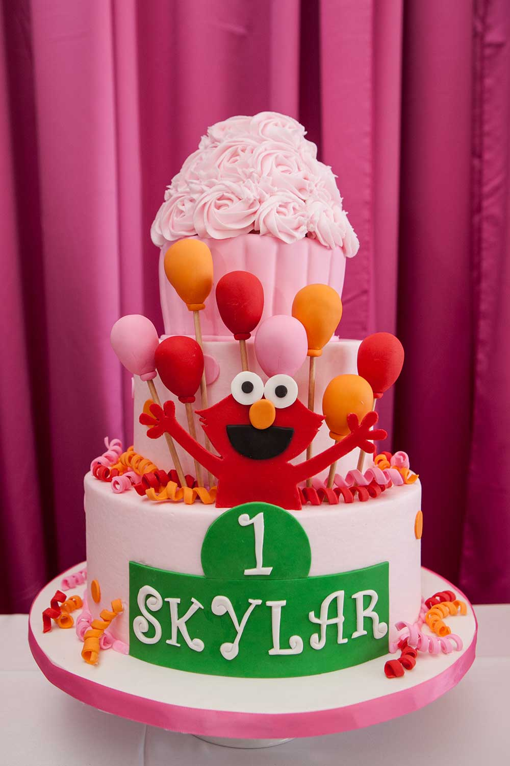 Elmo Themed Birthday Cake