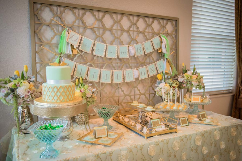 Elegant Mint And Gold Baptism Party The Celebration Society