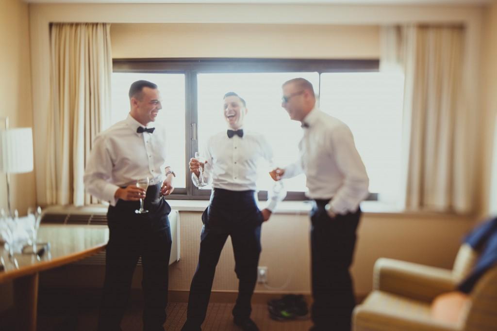 Grom and groomsmen