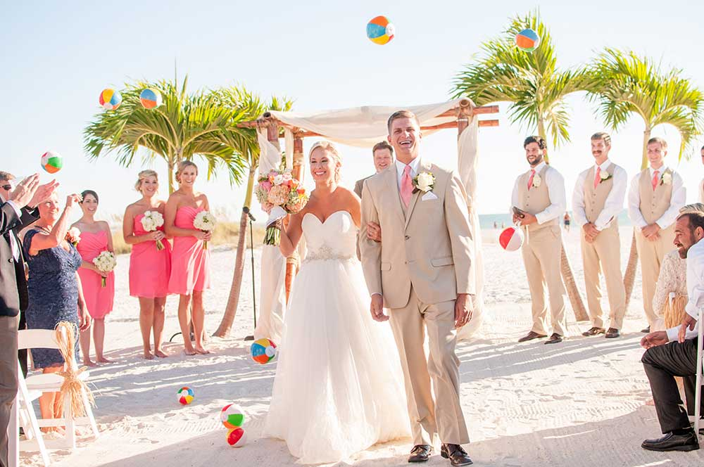 A Coral Beach Wedding at Grand Plaza Hotel in St. Pete Beach, Florida