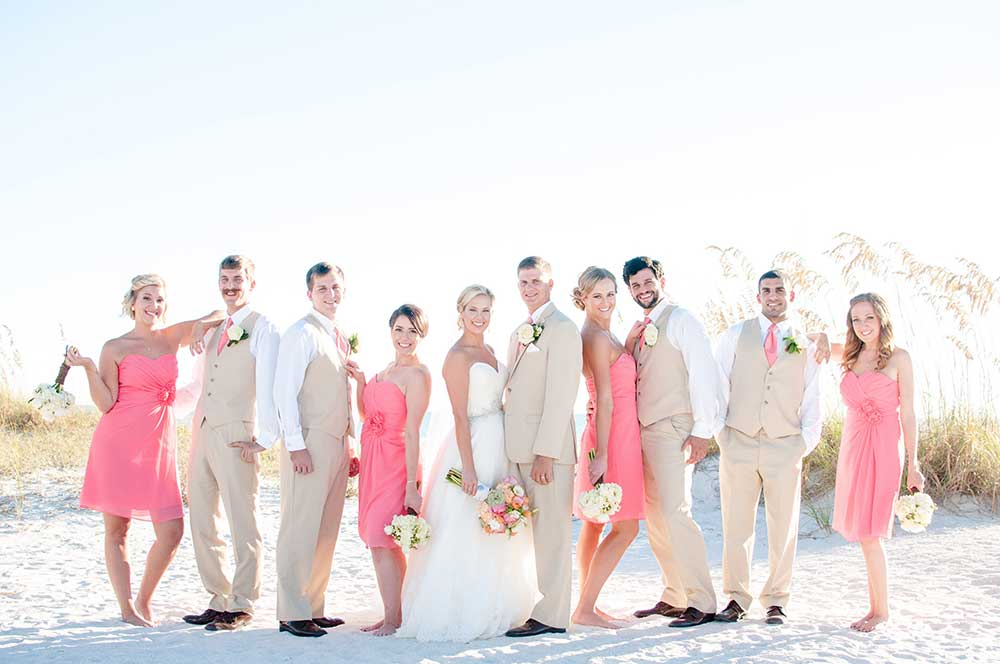 A Coral Beach Wedding At Grand Plaza Hotel In St Pete Beach Florida
