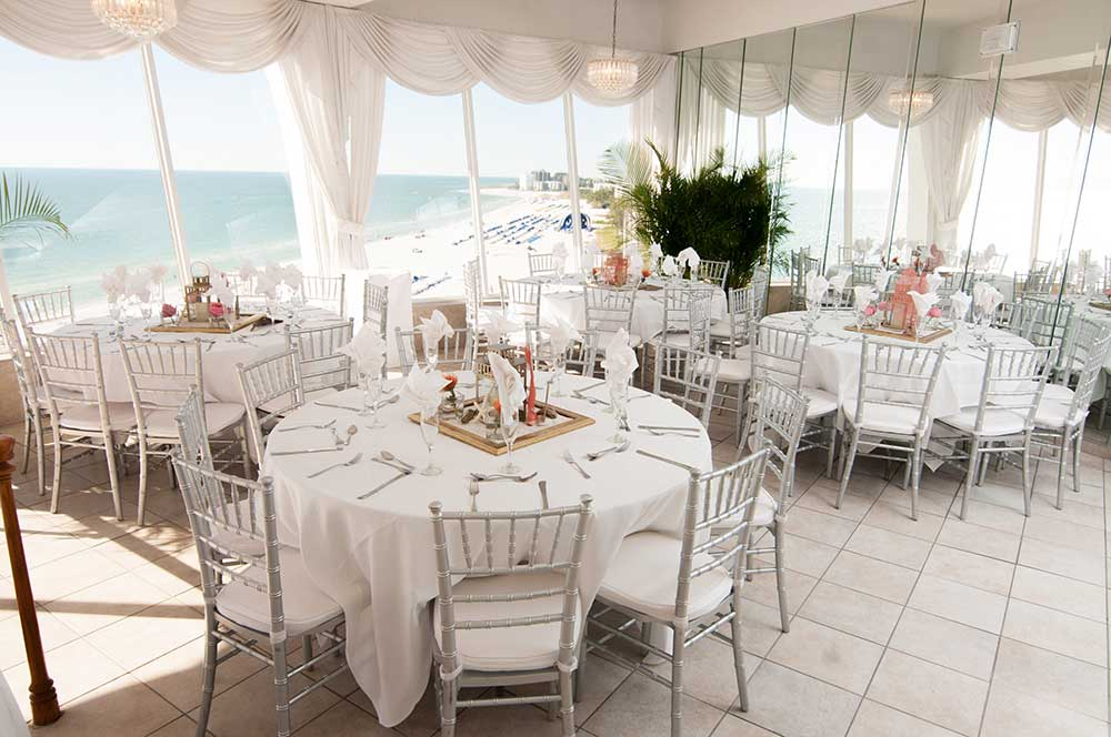 White-silver-and-coral-table-setting