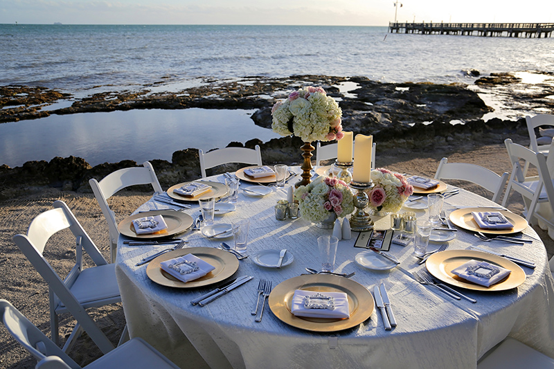 Beach Reception Dinner Setting