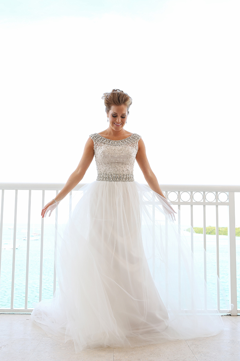 Beaded Tulle Wedding Dress