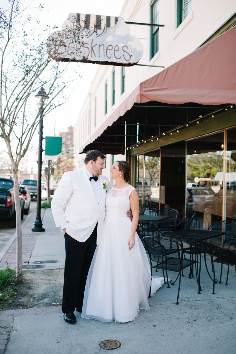 Brittany and Josh's First Look at The Bee's Knees in Augusta