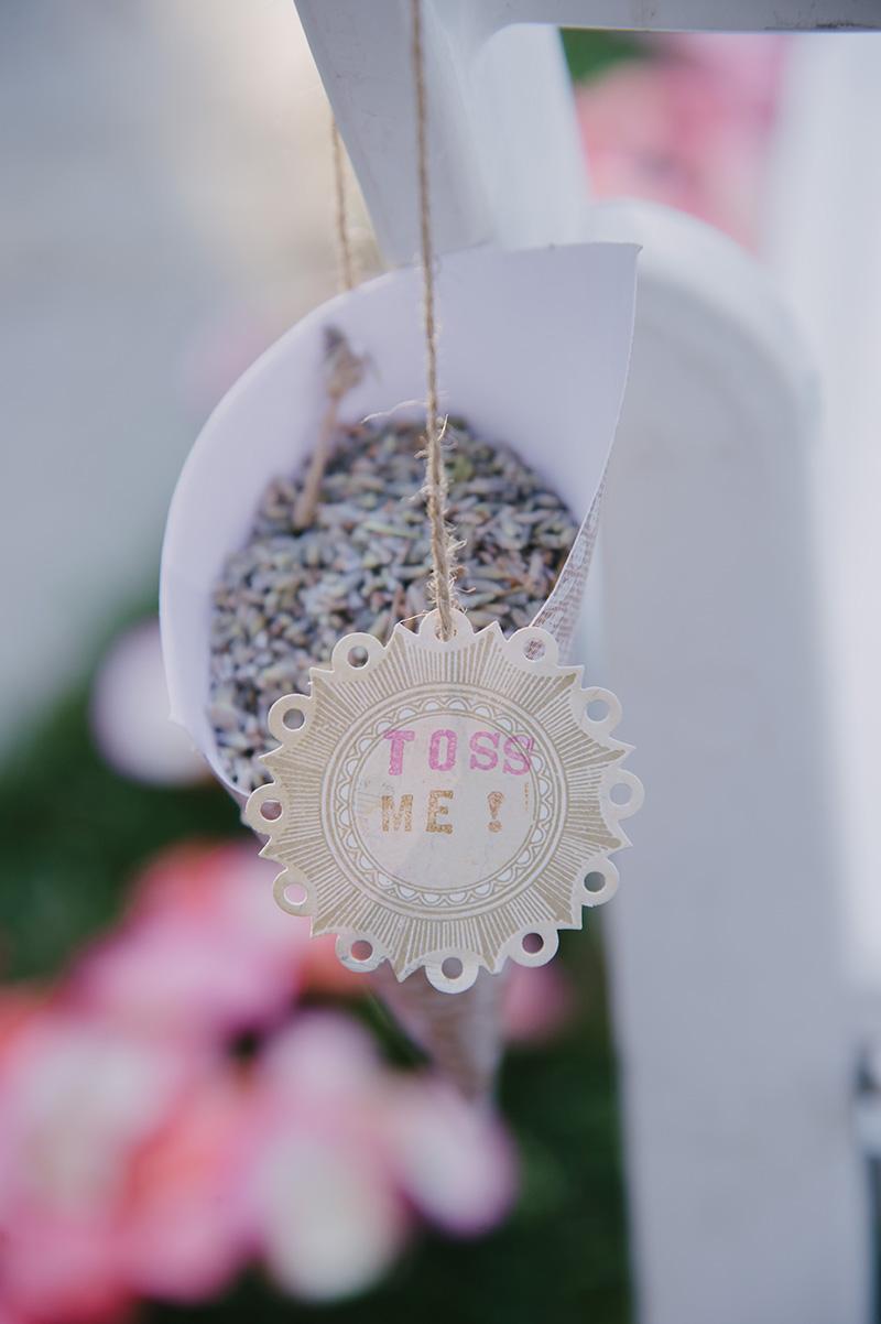 Celebratory Lavender Confetti for Recessional