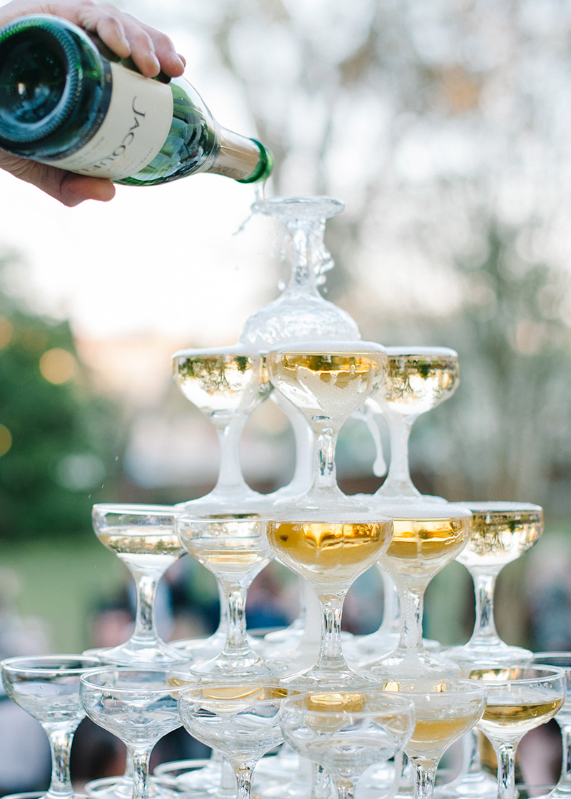 Champgane Tower at Reception Toast