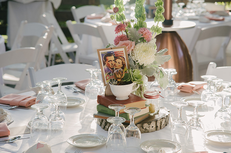 Favorite Movie Themed Table Number Centerpieces