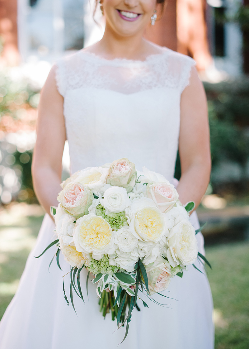 Garden Rose and Greenery Bridal Bouquet