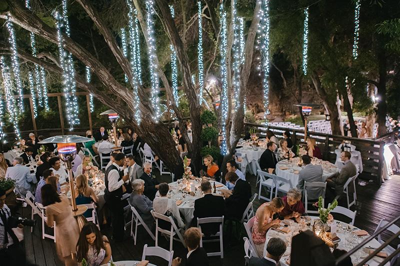 Guests at Outdoor Wedding Reception at Casamigos Ranch