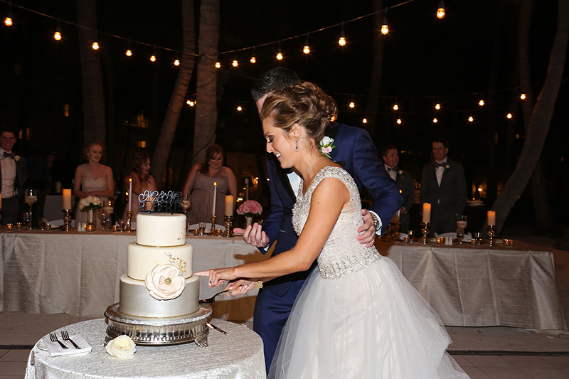 Key West Cakes Cake Cutting at Reception