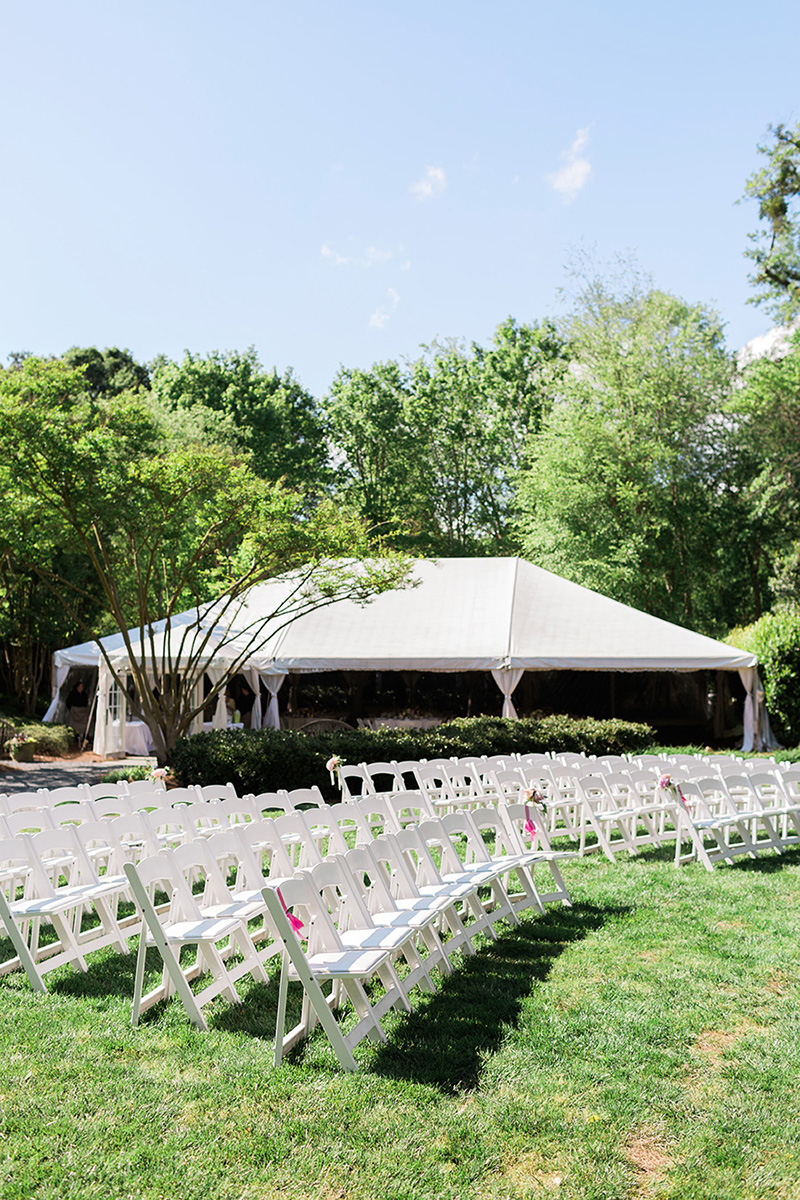 Simple Outdoor Ceremony Seating Arrangement