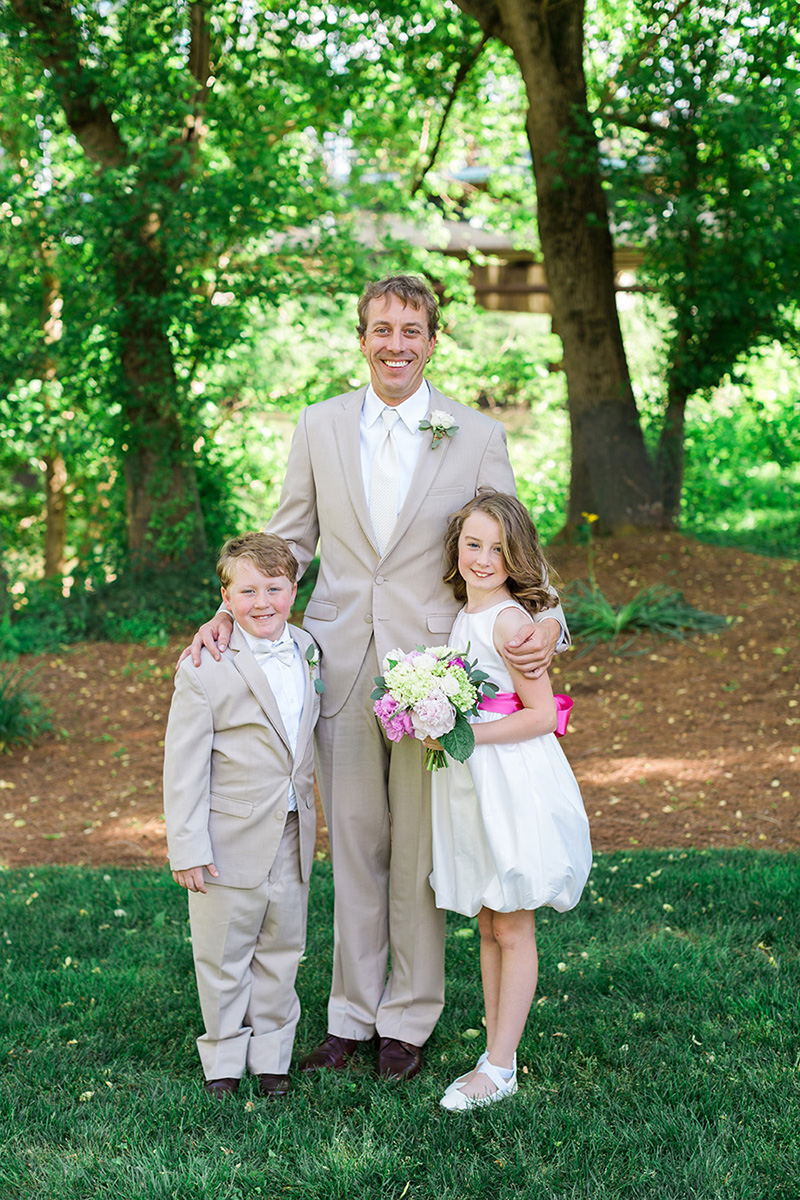 Groom with Children as Wedding Attendants