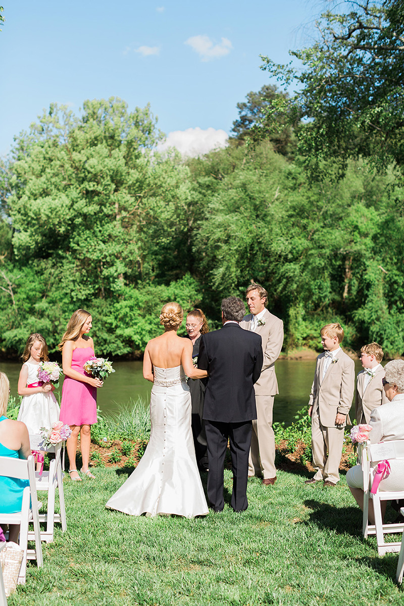 Waterfront Wedding Ceremony at Canoe in Atlanta