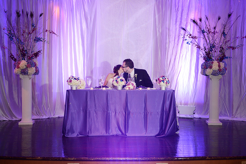 Newlywed Kiss at Reception