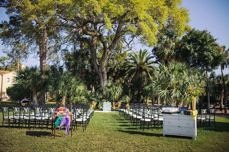 Outdoor Ceremony Setup at The Powel Crosley Estate