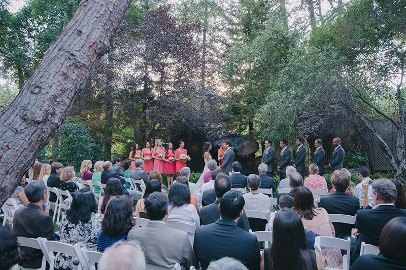 Outdoor Wedding Ceremony at Calamigos Ranch