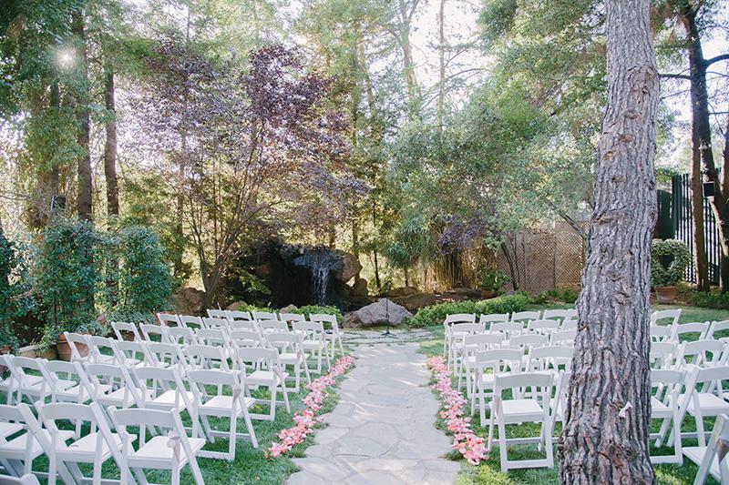 Outdoor Wedding Reception at Calamigos Ranch