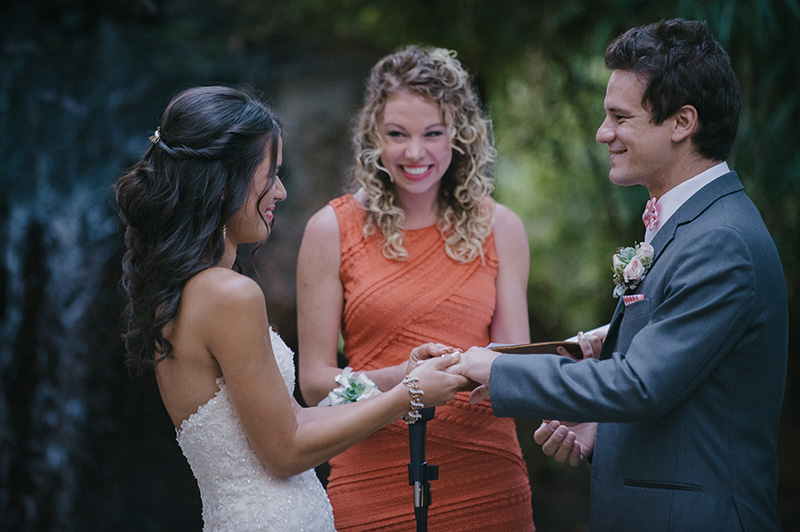 Rebecca and Harrys Ring Exchange at Wedding Ceremony