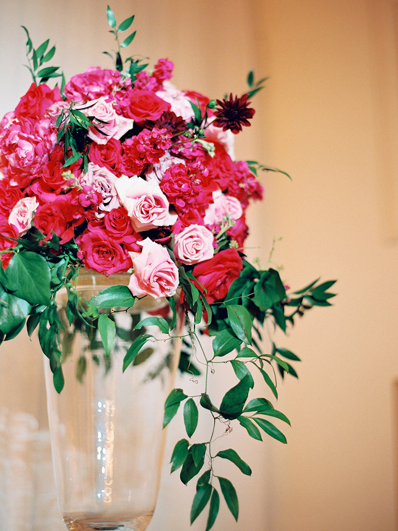 Rich Pink Rose Floral Display