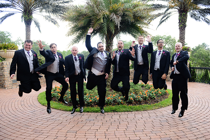 Silly Groomsmen Jumping