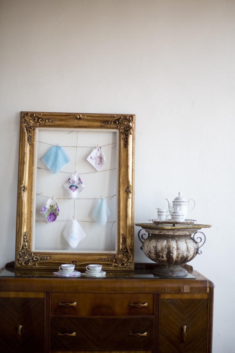 Vintage Handkerchief Favor Display