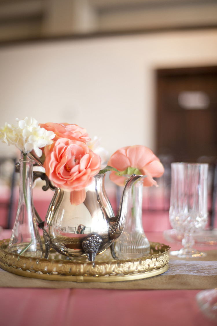 Vintage Tea Kettle Centerpieces