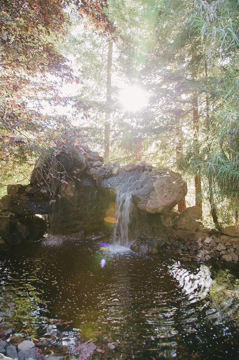 Waterfall at Calamigos Ranch in Malibu, California