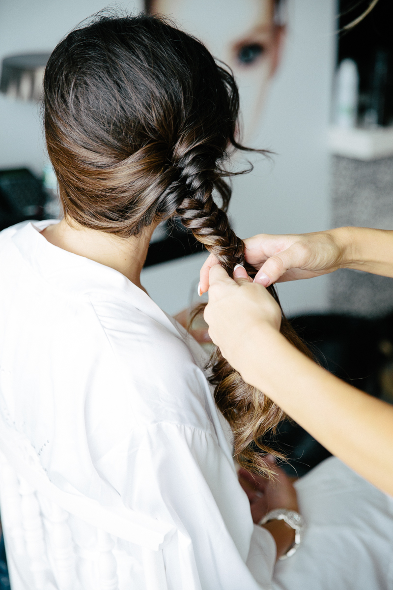 Bride Hair Prep Before Wedding