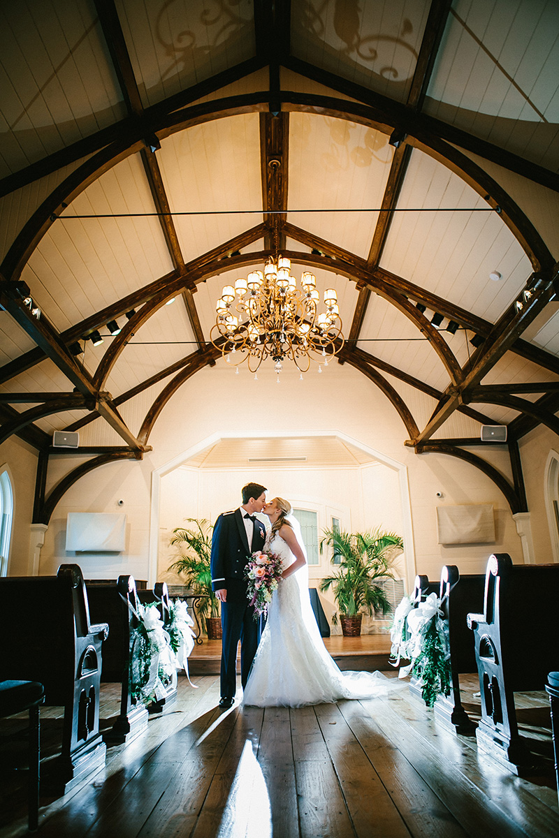 Bride And Groom After Wedding Ceremony In Tybee Island Chapel