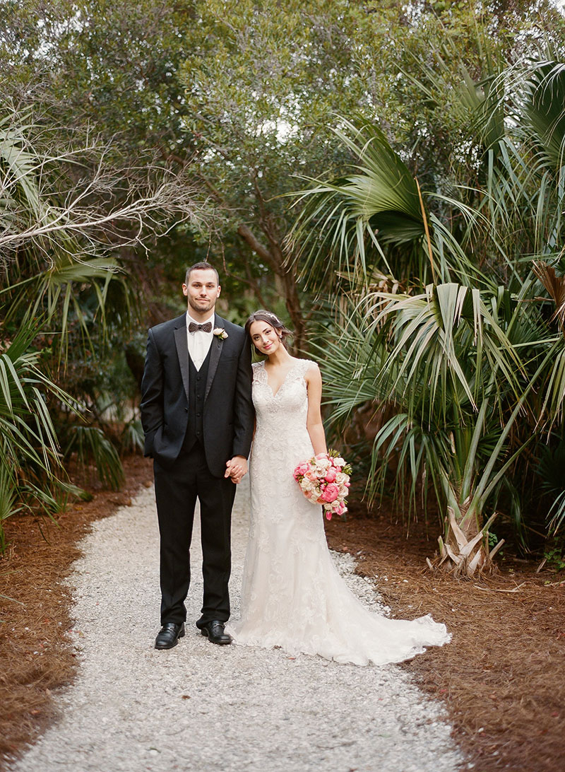 Bride and Groom at Dunes Resort in Charleston
