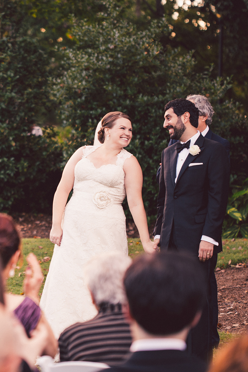 Bride and Groom's Recessional in Piedmont Park